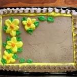 gâteau à fleurs